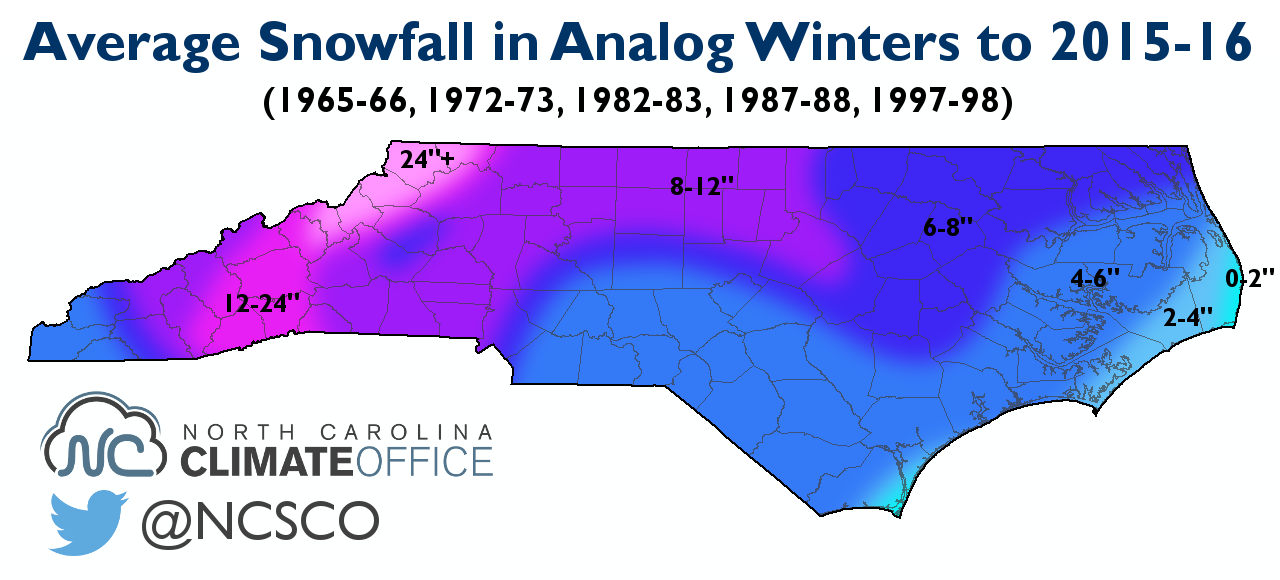 Analog Winters Help Show The Possibilities For This Year State - Average annual snowfall map us