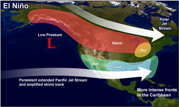 Strong El Nio Drives Pacific Patterns Jet Stream Impacts  State