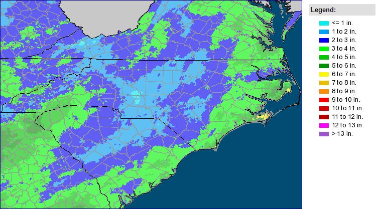 Total Precipitation For January 2016 From Multi Sensor Precipitation Estimates