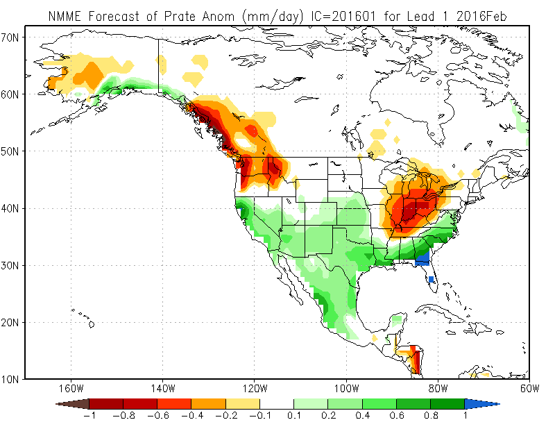 For The Month As A Whole The North American Multi Model Ensemble Which Aggregates Several Climate Model Forecasts Suggests Below Normal Temperatures And