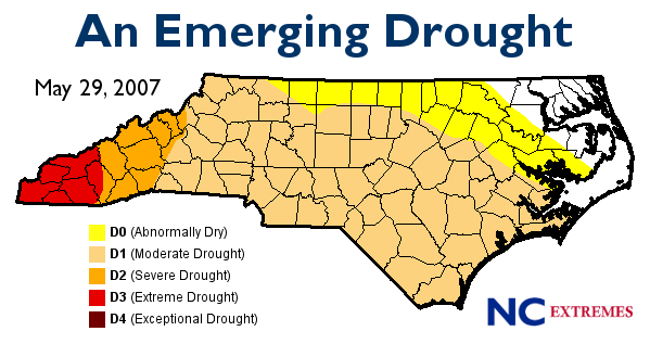 In what states, did the Drought of 2007-2009 effect?