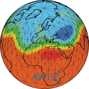 This is an image of an atmospheric model showing Rossby Waves