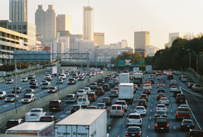 Atlanta, GA rush hour traffic