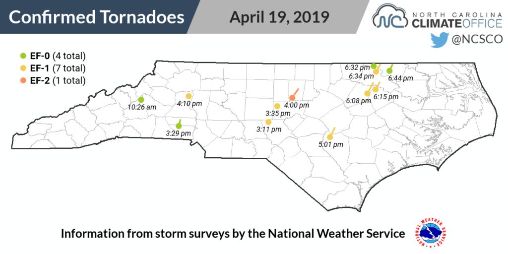 April 19 2019 Tornado paths
