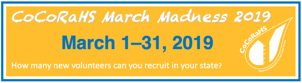 CoCoRaHS March Madness