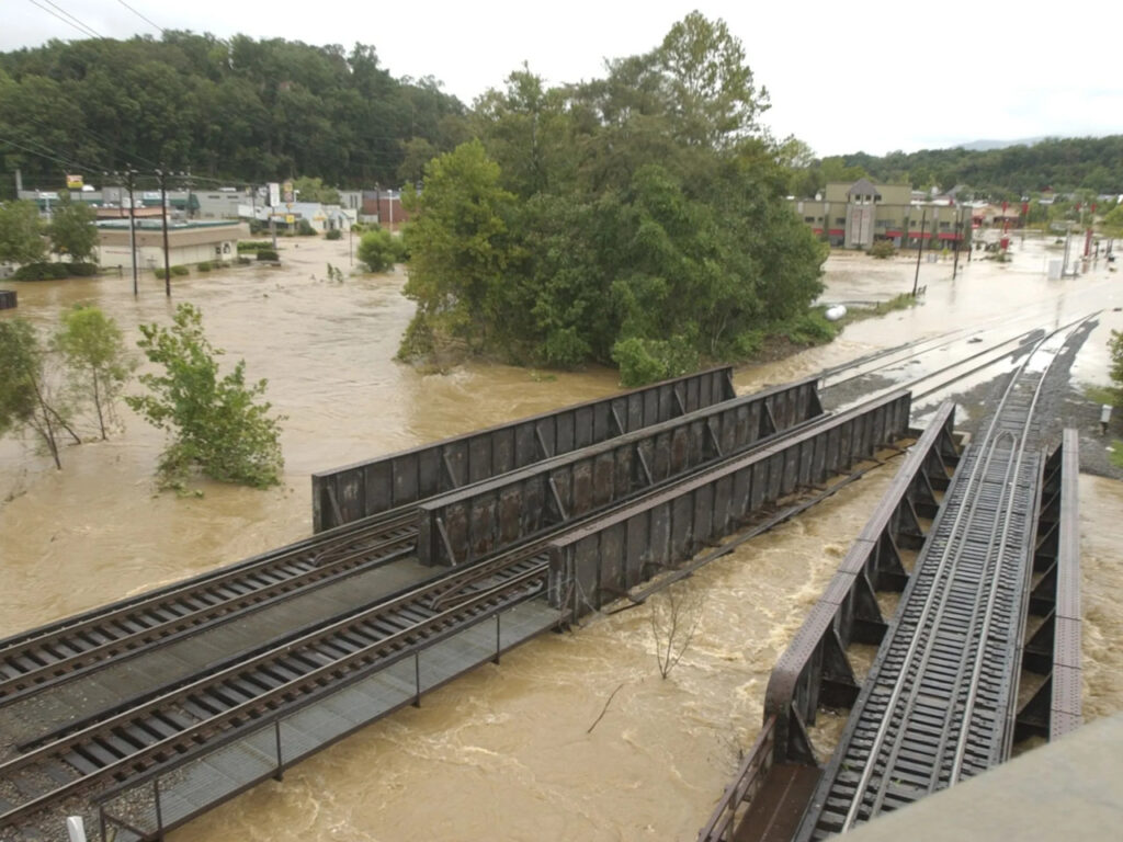 Flooding in Asheville