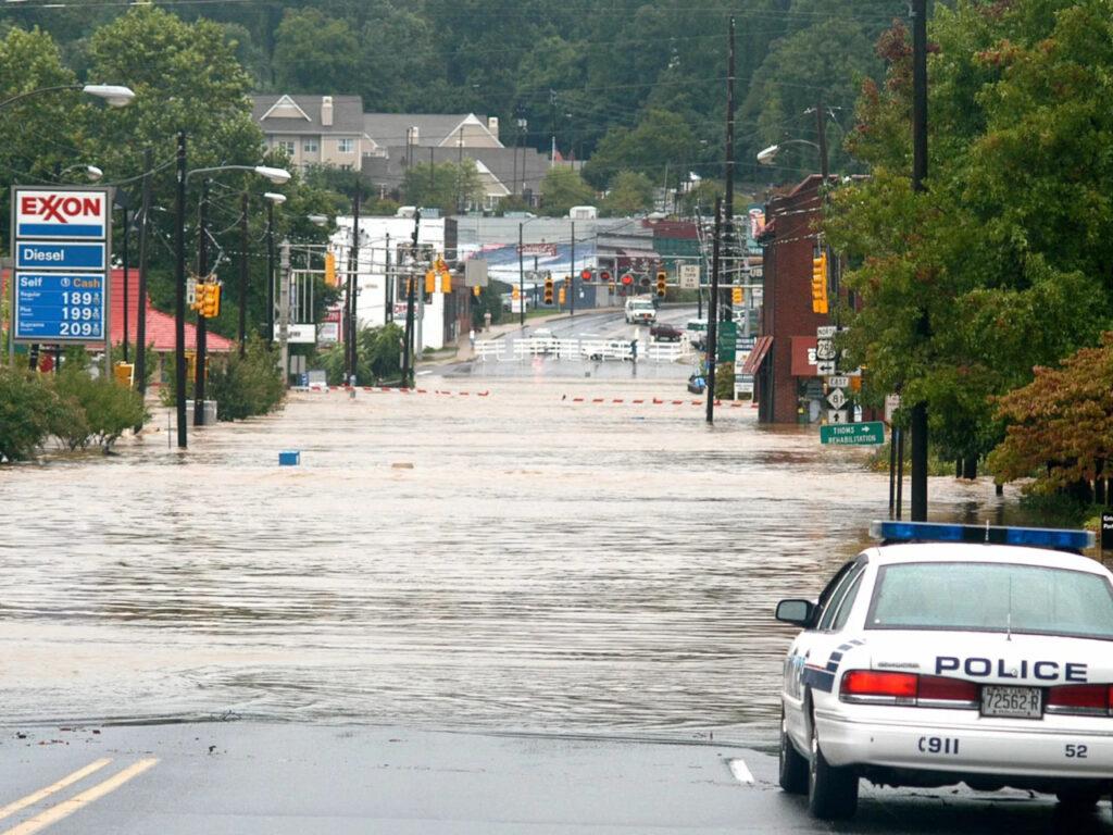 Flooding in Biltmore Village