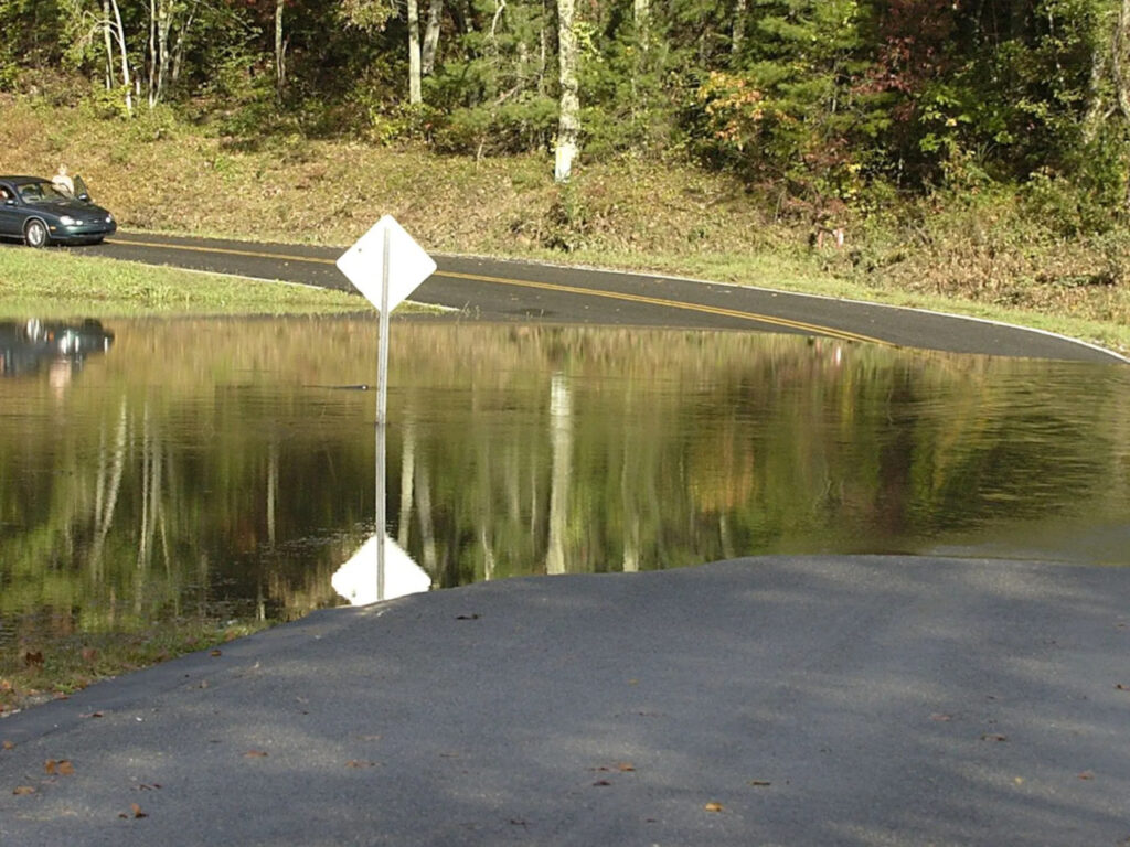 Flooding near Rosman in Transylvania County after Jeanne
